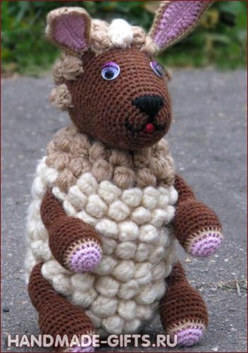 Купить авторского барашка вязаного