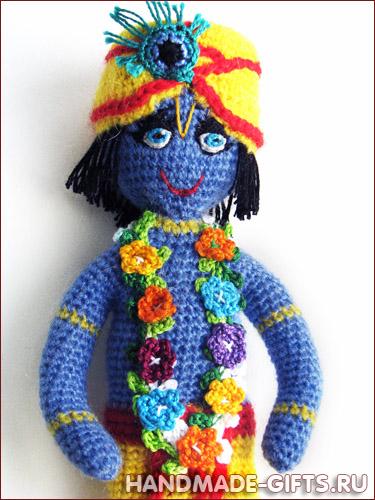 Вязаная кукла Кришна купить