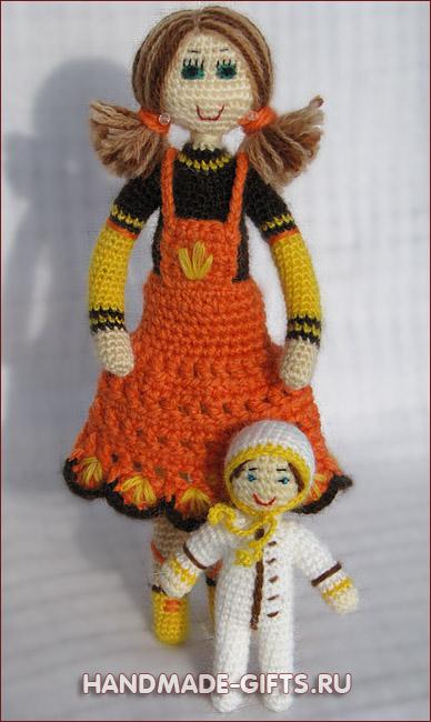 Авторские куклы ручной работы Купить кукла вязанная крючком
