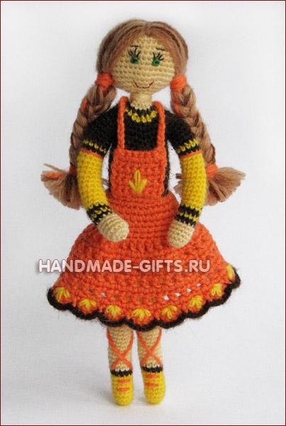 Кукла Лида вязанная крючком