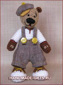 Медведи: вязаные игрушки подарки ручной работы handmade-gifts мягкие подарки