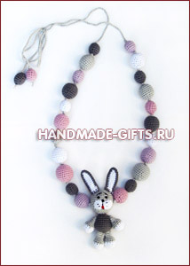 Украшения ручной работы Слингобусы (мамабусы) Серый заяц купить подарки ручной работы handmade-gifts символ 2011 года