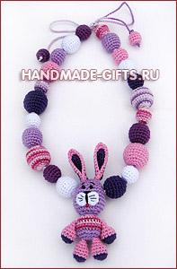 Украшения ручной работы Слингобусы (мамабусы) Зайчик Майская сирень купить подарки ручной работы handmade-gifts символ 2011 года