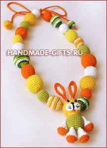 Украшения ручной работы Слингобусы (мамабусы) Зайчик Солнечное лето купить подарки ручной работы handmade-gifts символ 2011 года