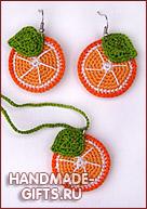 Вязанный комплект крючком Дольки апельсина купить