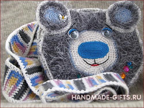 Детская сумочка Мишка Тедди купить сумку в виде медведя ручной работы.