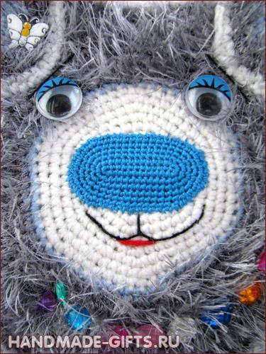 Детская вязаная сумочка Медведь сумка Мишка