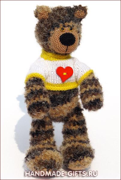вязаный медведь купить, купить вязаный мишка, вязаный медведь, вязаный мишка, купить вязаного мишку, вязаный мишка с сердцем, мишка в свитере, подарок день влюбленных, подарок 14 февраля