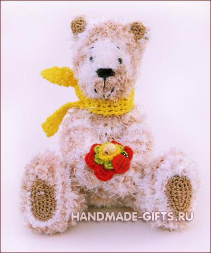 вязаный мишка купить, вязанный мишка, вязаный медведь, вязаные игрушки