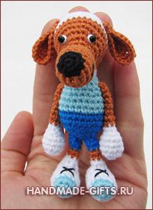 вязаная собака купить, вязаная собака, вязаная собачка, вязанная крючком собака, собака крючком, вязаные игрушки, собака рузи, рузи, собака
