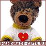 вязаный мишка, вязаный медведь, купить вязаного мишку, купить вязаного медведя, вязаные игрушки
