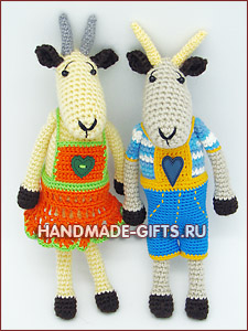 купить вязаную козу, купить вязаного козлика, символ 2015 года, вязаная коза, купить вязаные игрушки