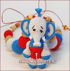 слингобусы купить, слингобусы, купить слингобусы, мамабусы, кормительные бусы, вязаные бусы, вязаный слон, вязаный слоник, слингобусы со слоником, слингобусы с игрушкой, вязаные бусы