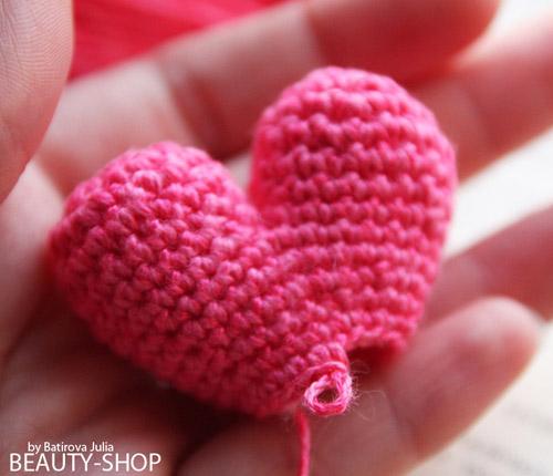 вязать сердце крючком
