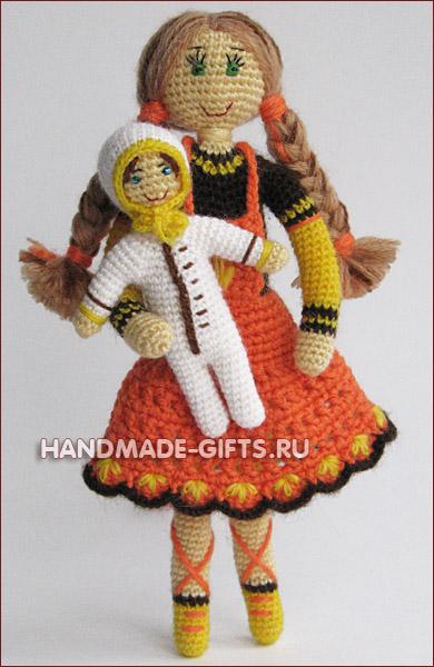 Авторская кукла Натали вязанная крючком - купить кукла вязаная.
