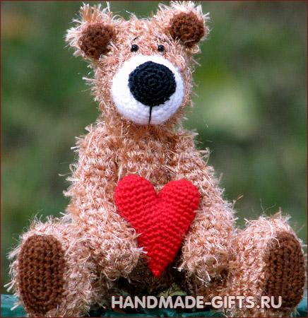 Вязаный медвежонок Тэдди Боб